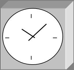 модель внешнего вида часов